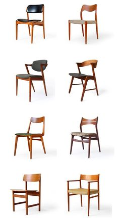 modern furniture So many amazing mid-century modern chair styles to choose from! Danish Furniture, Scandinavian Furniture, Home Furniture, Furniture Design, Antique Furniture, Wooden Furniture, Office Furniture, Danish Chair, Chair Design Wooden