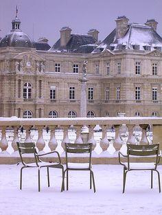 Luxembourg Gardens in winter, Paris by maralina!, via Flickr.