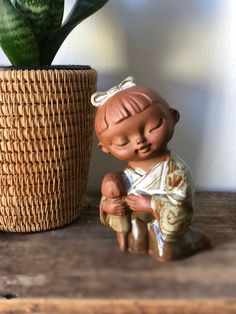 Excited to share this item from my shop: Vintage Japanese girl figurine Pottery Art Seto Craft Co. ceramic girl and her doll Vintage Japanese, Japanese Girl, Japanese Ceramics, Brighten Your Day, Chinoiserie, Pottery Art, Boho Style, Boho Fashion, Etsy Shop