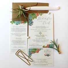 Suculentas no casamento | Convites