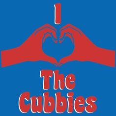 A popular shirt at Wrigley Field (and on WGN broadcasts), the classic simple graphic depicts the Wrigley Field clock at for the Chicago Cubs' first pitch! Chicago Cubs Fans, Chicago Cubs Baseball, Cubs World Series, Cubs Win, Go Cubs Go, Love My Man, Bear Cubs, Bears, Kansas City Royals