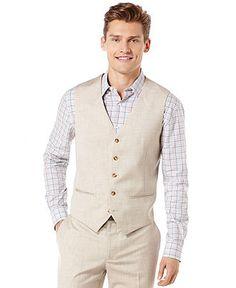 Perry Ellis Texture Vest - Blazers & Sport Coats - Men - Macy's
