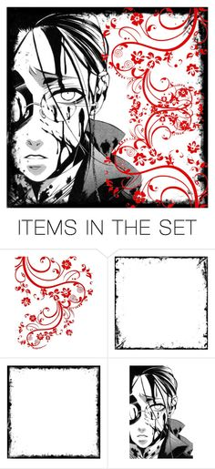 """Tag - Black Butler- Grell"" by shadow-cheshire ❤ liked on Polyvore featuring art"