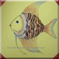 Craft Ideas for all: Craft with Pencil Shavings : Fish