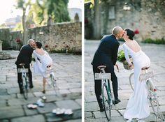 DIY bicycle themed wedding