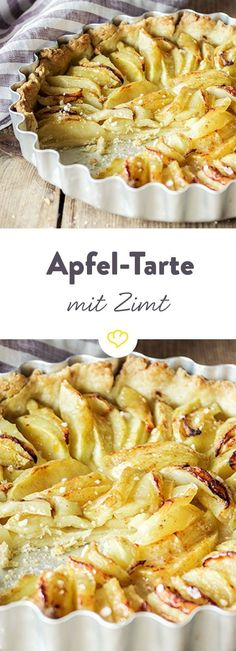 Unten knusprig, oben saftig: Mit feinem Mürbeteig und der Extraportion süßer … Crispy at the bottom, juicy at the top: with a shortcrust pastry and the extra portion of sweet apples – a quick tarte à la française. Easy Smoothie Recipes, Easy Smoothies, Baking Recipes, Snack Recipes, Dessert Recipes, Vegan Recipes, Desserts Végétaliens, French Apple Tart, Shortcrust Pastry