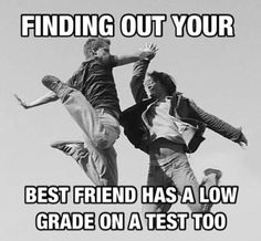 That happened today. I got a 6 on my final. And my friend got a 7
