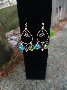 Legend of Zelda Teardrop Triforce Earrings with by GuiltyGeeks, $50.00