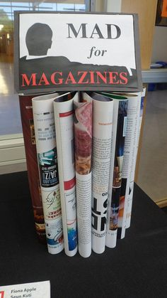Mad for Magazines library display by Colette Cassinelli, via Flickr