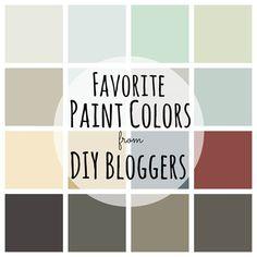 Favorite Paint Colors from DIY Bloggers best home paint colors, best house paint colors, best paint colors, favorit paint, diy blogger, paint colours, favorite paint colors, kitchen paint colors, colors paint