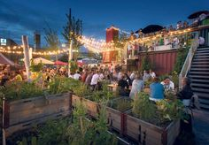 Frau Gerolds Garten @ Zurich. Restaurant, bar, designer shops and urban gardening.