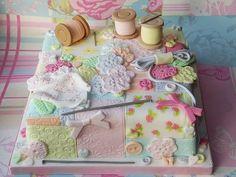 Pretty sewing cake