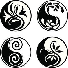 Arte Yin Yang, Yin Yang Art, Yin Yang Tattoos, Symbole Ying Yang, Jing Y Jang, Lottus Tattoo, Medical Drawings, Yin Yang Designs, Stencil Patterns
