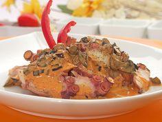 Deliciosa receta de Pulpo al Olivo!! Un plato muy rico y con alto potencial alimenticio, perfecto para acompañarlo con papas al vapor y una ensalada fresca... Mmm se te hará agua la boca!