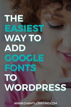 The Easiest Way to Add Google Fonts to WordPress // Being a DIY Wordpress designer is easy with the right plugin. This in-depth tutorial explains how to add Google Fonts to your WordPress website with the Jetpack plugin. Save this one for later!