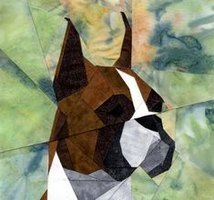 So, cool! Paper Pieced Quilt Patterns, Barn Quilt Patterns, Applique Quilts, Dog Quilts, Animal Quilts, Barn Quilts, Dog Artwork, Quilting Designs, Quilt Design