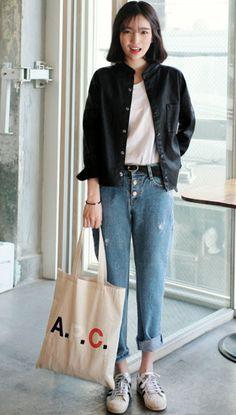 Boho Fashion Plus Size .Boho Fashion Plus Size Korean Fashion Trends, Korean Street Fashion, Korea Fashion, Asian Fashion, Look Fashion, Fashion Outfits, Womens Fashion, 90s Fashion, Fashion Quiz
