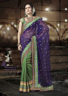 I own a purple and gold saree that I love!!  Gave a presentation on how to wrap it one way in an Indian Culture class!!