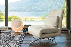 Benny Designer Sleeper Chair by Bonaldo with Estambul Rug by Nanimarquina