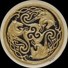 Three Celtic Horses  Original cast paper design by Kevin Dyer  100% Cotton hand made paper  This is an original design of mine in the tradition of the triskelion, a repeating three paneled circle, common in Celtic and Irish art.