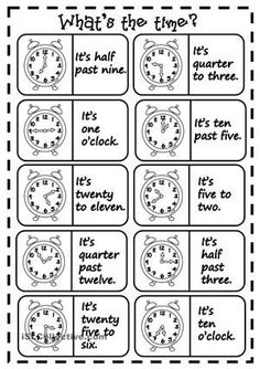 Twenty domino cards to practise telling the time with elementary students. Hope you find it useful. Have a nice day, mada :) - ESL worksheets