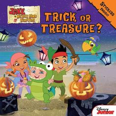 Disney Jake and the Never Land Pirates Trick or Treasure Book