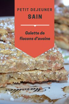 Healthy and inexpensive breakfast: the oat cake Breakfast Snacks, Breakfast Bake, Breakfast Cookies, Vegan Breakfast, Breakfast Recipes, Healthy Drinks, Healthy Recipes, Compote Recipe, Desserts Sains