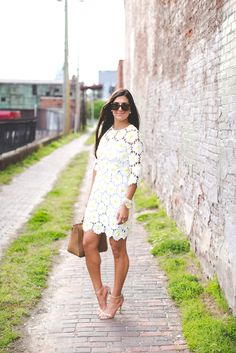 Daisy Print Dress | A Southern Drawl