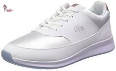 Lacoste Chaumont Lace 316 2, Baskets Basses Femme, Blanc-Weiß (WHT 001), 37.5 EU