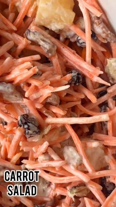 Salad Recipes Healthy Lunch, Carrot Salad Recipes, Easy Healthy Recipes, Vegetarian Recipes, Cooking Recipes, Cheesy Recipes, Mexican Food Recipes, Carrot And Raisin Salad, Carrot Salad With Raisins