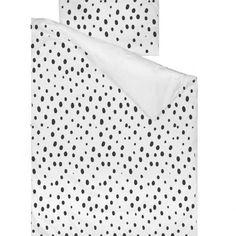 Rose Duvet Cover, Duvet Covers, Cot Duvet, African Babies, Monochrome Nursery, Cotton Sheets, Black Spot, Duvet Sets, Pillow Cases