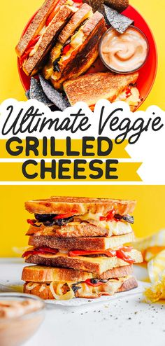 Fill up on savory roasted veggies with this Gouda Grilled Cheese. Stuffed with pepper, onion, and mushrooms and perfect for dipping in toasty sauce! #sandwich #lunch #vegetarian #gouda Vegetarian Main Dishes, Best Vegetarian Recipes, Healthy Recipes On A Budget, Vegetarian Lunch, Vegetarian Recipes Dinner, Vegan Dinners, Clean Eating Recipes, Lunch Recipes, Easy Dinner Recipes