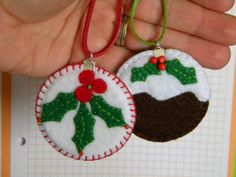 Christmas felt handmade ornaments