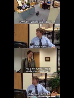 He lost his desk...