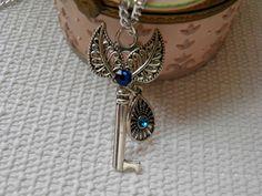 Key Pendant Necklace, Jewelry  Necklace, Skeleton Key, Necklace Key Pendant, Vintage Style, Statement Necklace,  Key Pendant by KeyofMyHope on Etsy