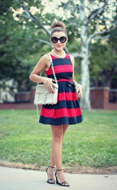 Parisian chic. #stripes #rebeccaminkoff #bloggeroutfit