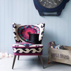 Alpana Suzani Chair - Sofas, Armchairs & Footstools - Furniture £375 graham & green