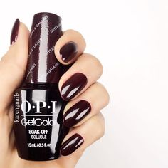 """Look at the shine of @karengnails #OPI #GelColor mani! Shade shown: #GuysAndGalaxies"""