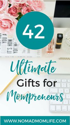 Check out the 42 Gifts For Mompreneurs to the work at home mom you know and a great business resource she can use. #mompreneur #workathomemom #gifts