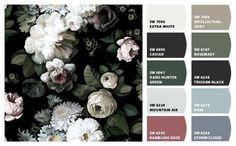 Ellie Cashman Dark Floral color pallete