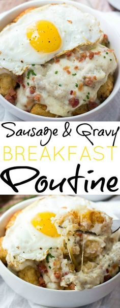 Want a hearty way of waking up? This Sausage and Gravy Breakfast Poutine will fill you right up!