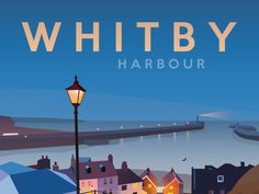 Whitby Railway Poster - Whitby Harbour by UKLandscapePrints on Etsy British Travel, British Seaside, British Isles, Safety Posters, Railway Posters, New Poster, Poster Making, Vintage Travel Posters, Holiday Destinations