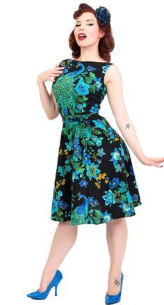 Heart of Haute Monique Dress in Royal Peacock | Blame Betty