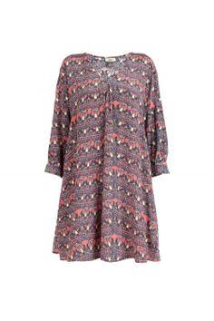 ISSA london Silk Crepe de Chine Scarab-print Tunic