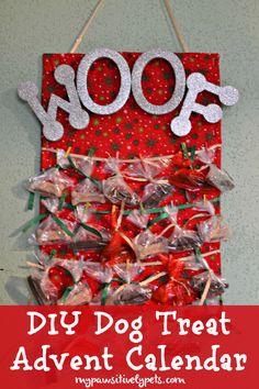 DIY Dog Treat Advent Calendar #TreatThePups #sponsored http://www.mypawsitivelypets.com/2015/12/diy-dog-treat-advent-calendar.html