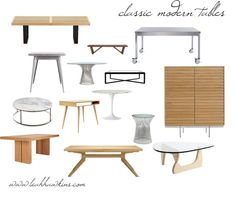 """classic modern tables"" by leahhawkins on Polyvore"