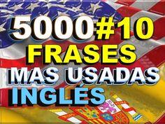 FRASES#10 - INGLÉS ESPAÑOL - CON PRONUNCIACIÓN - INGLÉS AMERICANO - Most... English Help, English Class, Confirmation, English Phrases, Most Common, Teaching Tips, Spanish, Learn English, English Course