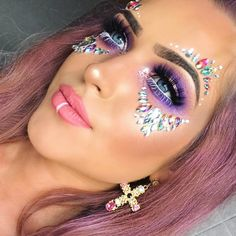 "4,621 Likes, 23 Comments - THE GYPSY SHRINE (@thegypsyshrine) on Instagram: ""MAKE UP GOALS@racheldonnelly11 wearing our best seller 'Iridescent Candy Kiss Face Jewels' ✨…"""