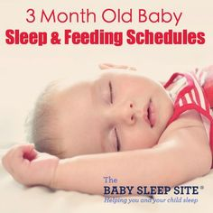 We outline sample 3 month old baby sleep and feeding schedules, including nap times and feeding times, and share 3 month old sleep tips and sleep patterns.