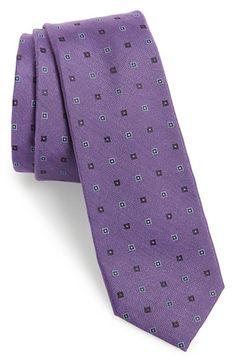 Calibrate 'Victoria Island' Silk & Cotton Tie